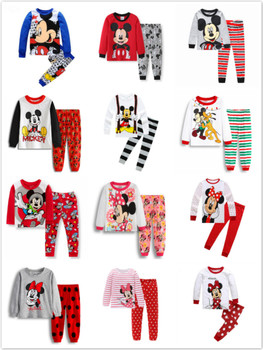 Kids Pajamas Set Children Sleepwear Cartoon Mickey Minnie Mouse Cars Pyjamas Pijamas Baby Boys Girl Cotton Nightwear Clothes - discount item  17% OFF Children's Clothing