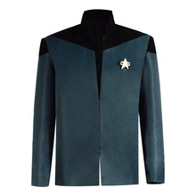Cossky Jean-Luc Picard Captain Uniform Jacket Cosplay Costume jean luc rinaudo telepresence in training