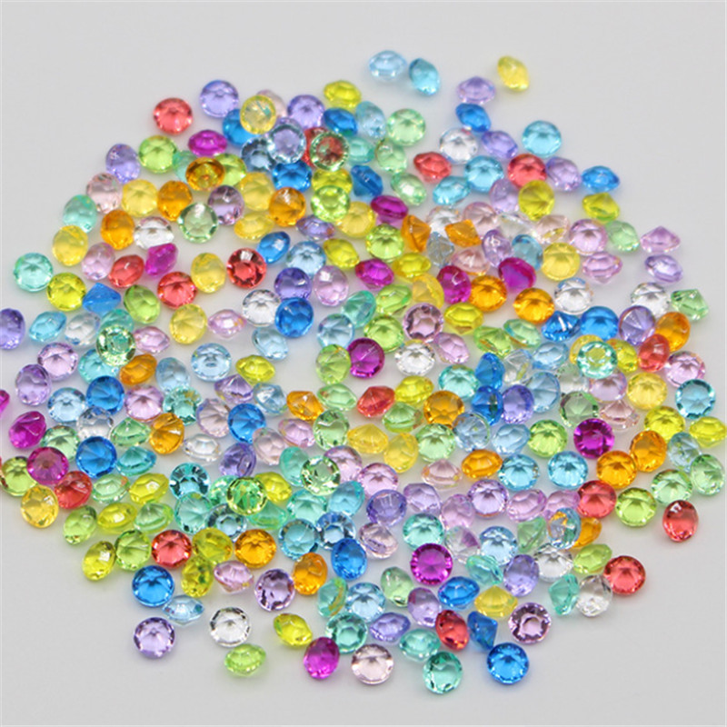 500 Pieces 4.5mm Acrylic Plastic Diamond Shape Game Pawn Pieces For Board Games Counter Accessories Multi Color