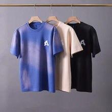 2021 ADER FEHLER T-shirt Reißen EINE Gesticktes Logo T Männer Frauen 1:1 hohe Qualität High Street Tie Dye Tops Kurzarm Gradienten