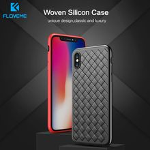 FLOVEME Woven Case For Samsung Galaxy A50 A70 S8 S9 S10 Soft Silicone samsung s10 plus A40 Note 8 note 9 A20 phone case