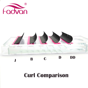 Image 2 - Fadvan Individual Eyelashes for Building 8 14mm Silk Soft False Eyelash Extension Synthetic Lashed Makeup Tools J/B/C/D/DD Curl