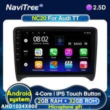Android 2G + 32G Auto Multimedia Speler Voor Audi Tt MK2 8J 2006 2007 2008 2009 2010 2011 2012 Radio Ondersteuning Stuurbediening
