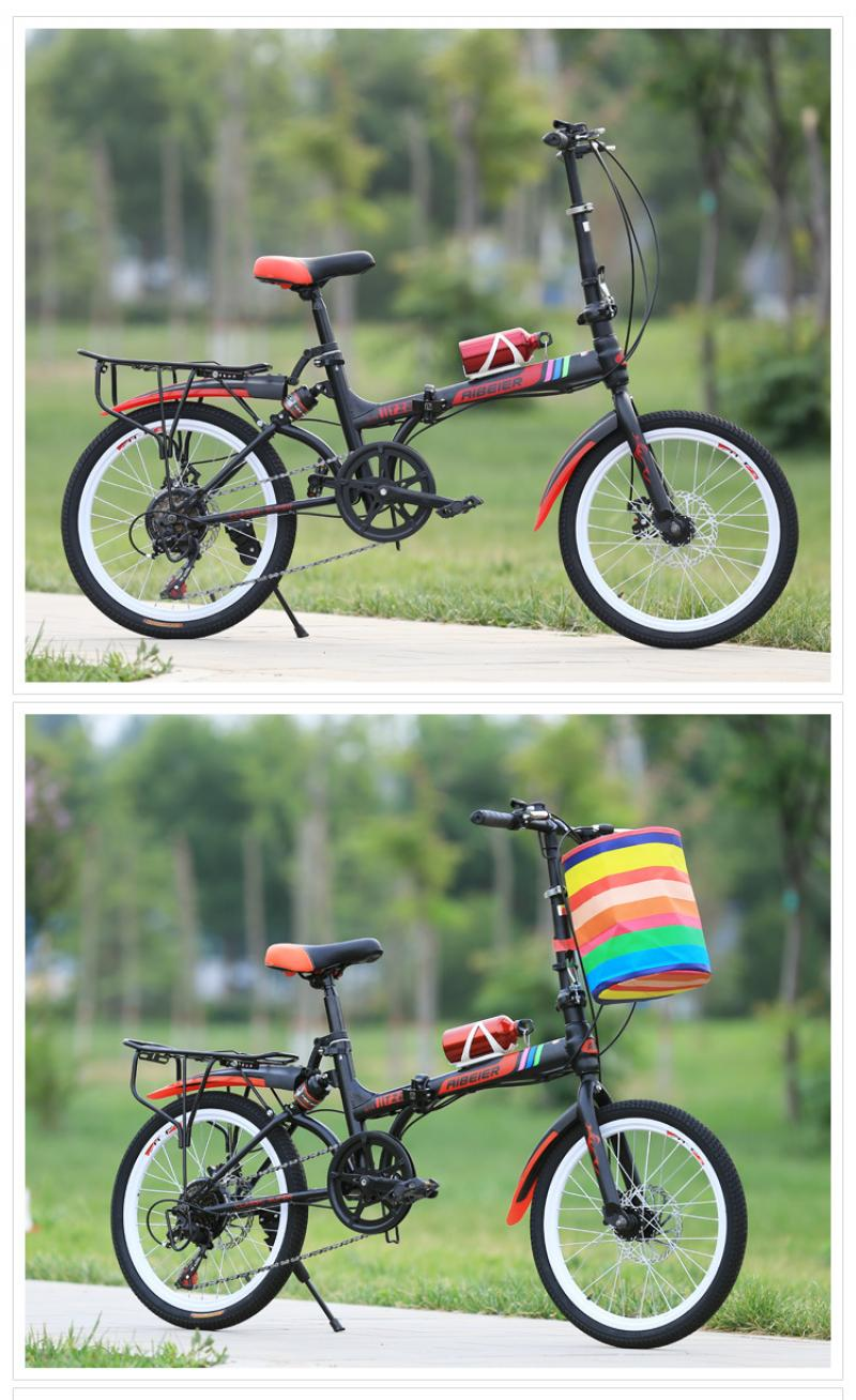 Folding Bmx Bike : folding, Folding, Steel, Foldable, Bicycle, Super, Light, Weight, Students, Female, Firephoenixbicycle