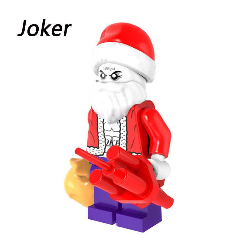 Figuras do Dia Das Bruxas natal Papai Noel Grinch Deadpool Joker Harley Quinn Darth Vader Blocos de Construção de Tijolos Brinquedos Para crianças