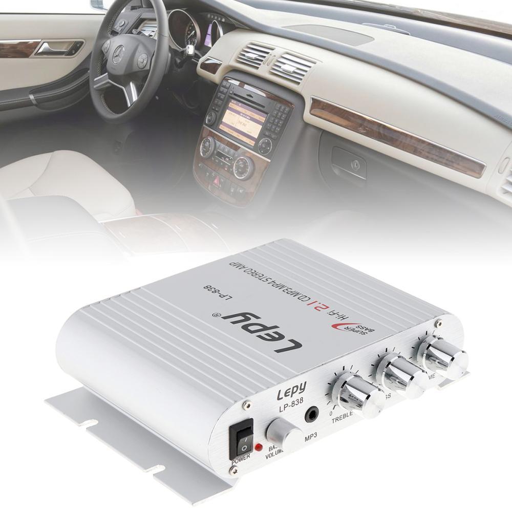 Mini Radio MP3 Hi-Fi de 12V y 200W para coche, motocicleta, hogar, barco, altavoz estéreo con graves, amplificador de Subwoofer