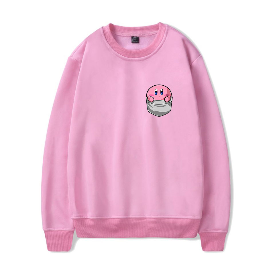 Cute Kirby Pink Hooded Men/Women Sweatshirt  Autumn O-Neck Hoodies Men Sweatshirt Kirby Casual Men's Oversized Hoodies 2019 New