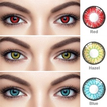 2pcs Cosplay Animie Colored Contacts For Eyes Purple Contact Lenses Lentes Multicolored Lenses Red Lens Lenses Blue UYAAI