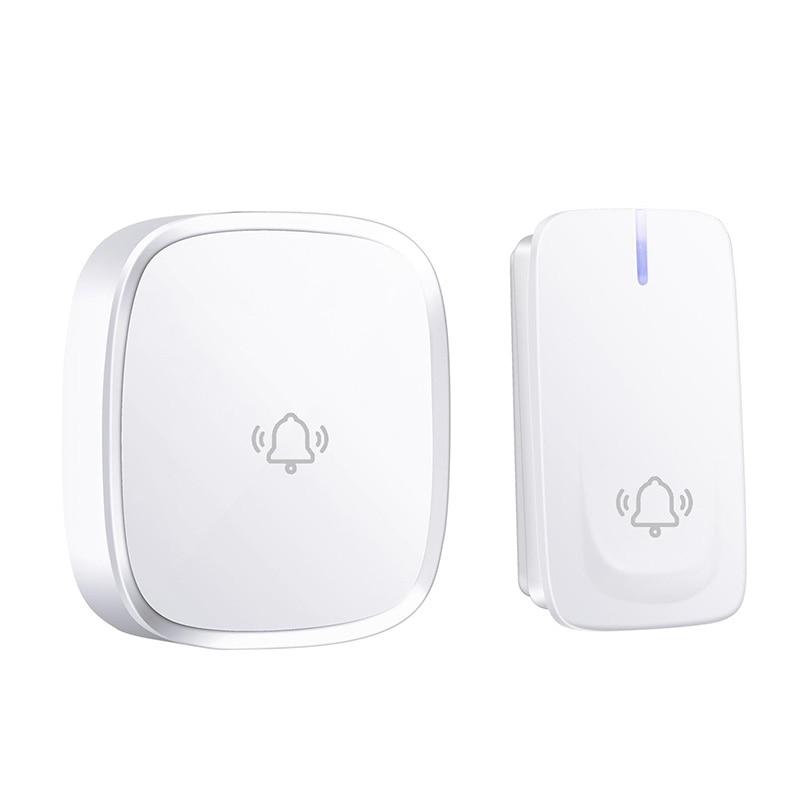 ABKT-No Battery Need Wireless Doorbell Waterproof Smart Door Bell Cordless Ring Doorbells Remote Ac 110V-220V(Us Plug)