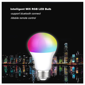 Smart Life Intelligent Wifi Voice control LED RGB Magic Light Bulb Bluetooth Connect 110V/220V 9W E27 E26 APP LAMP Alexa googl