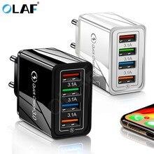 Carregador de celular usb 3.0 e 4.0, carregamento rápido para iphone x, samsung, xiaomi, huawei, tablet adaptador, adaptador