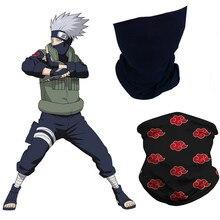 Anime naruto hatake kakashi máscara uchiha itachi akatsuki ninja pescoço cachecol máscaras bandana balaclava vermelho nuvem símbolo máscaras cosplay