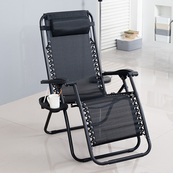Beach Chair Lunch Reclining Folding Office Back Outdoor Leisure Home Luxury - discount item  15% OFF Outdoor Furniture