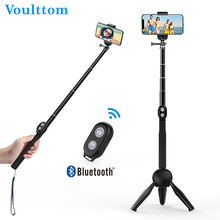 Voulttom Camera Tripod Selfie-Stick Smart Phone for Huawei Xiaomi iPhone Bluetooth Remote Portable Extendable Monopod Foldable(China)