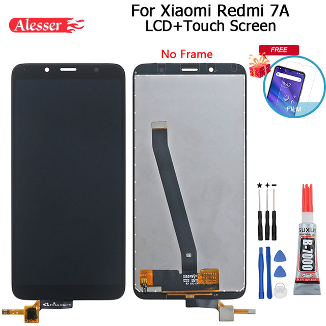 Alesser For Xiaomi Redmi 7A LCD Display And Touch Screen Assembly Repair Parts With Tools And Adhesive For Xiaomi Redmi 7A Phone