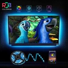 ColorRGB, lumières de bande de LED, pour la lumière de bande de LED de puissance d'usb d'ordinateur portable de TV RGB5050 Led rétro-éclairage avec le contrôle d'app