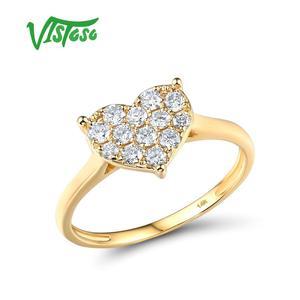 VISTOSO Gold Ring For Women Ge