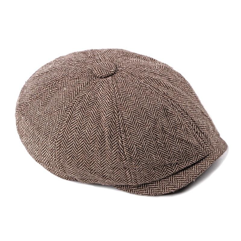 Мужские Восьмиугольные шляпы в британском стиле Зимняя шерстяная шапка Кепка-восьмиклинка картуз Гольф Вождение Осень Женская хлопковая плоская кепка таксиста кепка газетчика - Цвет: CE