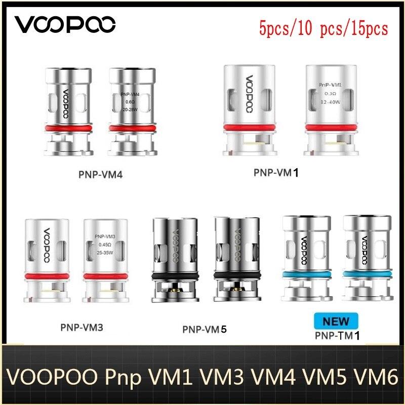 5 uds VOOPOO PnP bobina VM1 0 3ohm/ VM5 0.2ohm / VM6 0 15ohm/ TM1 0.6ohm de malla de bobina para Voopoo ARGUS aire Vape/arrastre S arrastrar X Kit