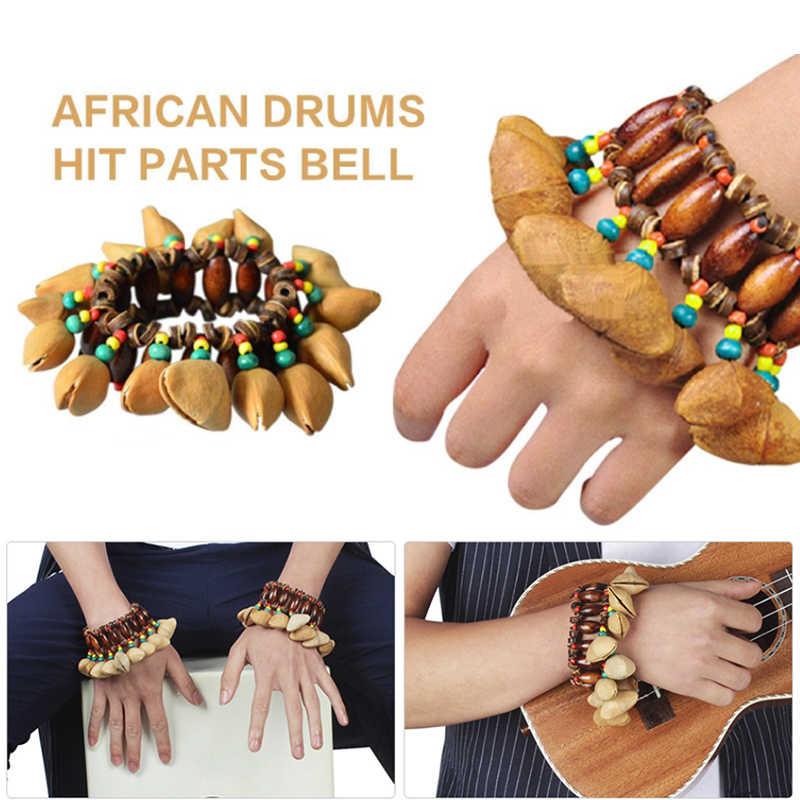 Batterie africaine Handbell Bracelet à Percussion main chaîne son Bracelet cadeau Instrument de musique accessoire enfant jouets main cloche