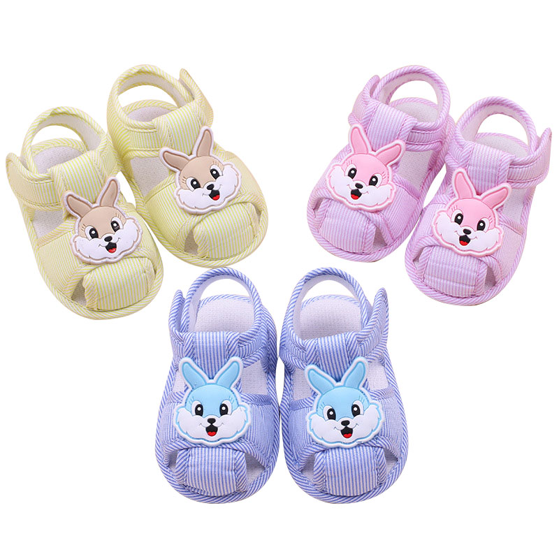 2019 New Toddler Shoes Baby Girls Cartoon Rabbit  Non-slip First Walkers Soft Bottom Baby 0-1 Years For Newborn Crib Shoes