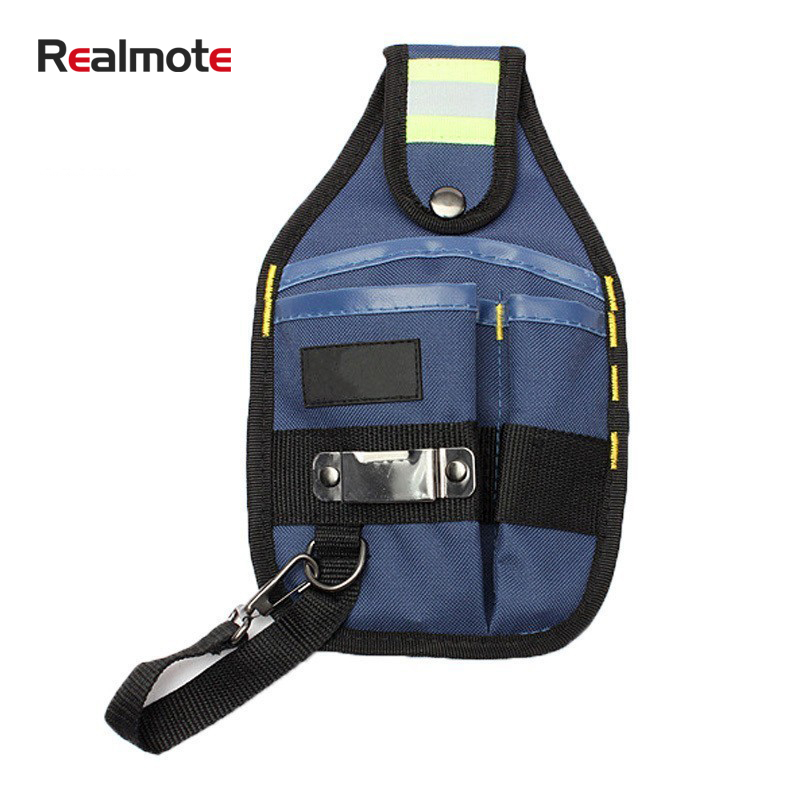 Realmote Strong Oxford Cloth And Thicken Design Wear Waterproof Electrician Wide Tools Bag Belt Holder Kit Pockets