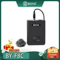 BOYA BY F8C Professional XLR Cardioid Lavalier Microphone for DSLR Camera Sony Panasonic Camcorder Vocal & Acoustic Guitar Video