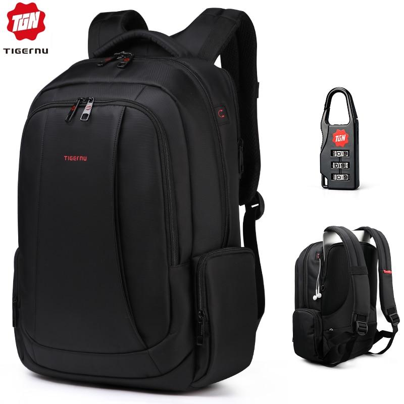 Tigernu Anti Theft Nylon 27L Men 15.6 inch Laptop Backpacks School Fashion Travel Male Mochilas Feminina Casual Women Schoolbag-in Backpacks from Luggage & Bags