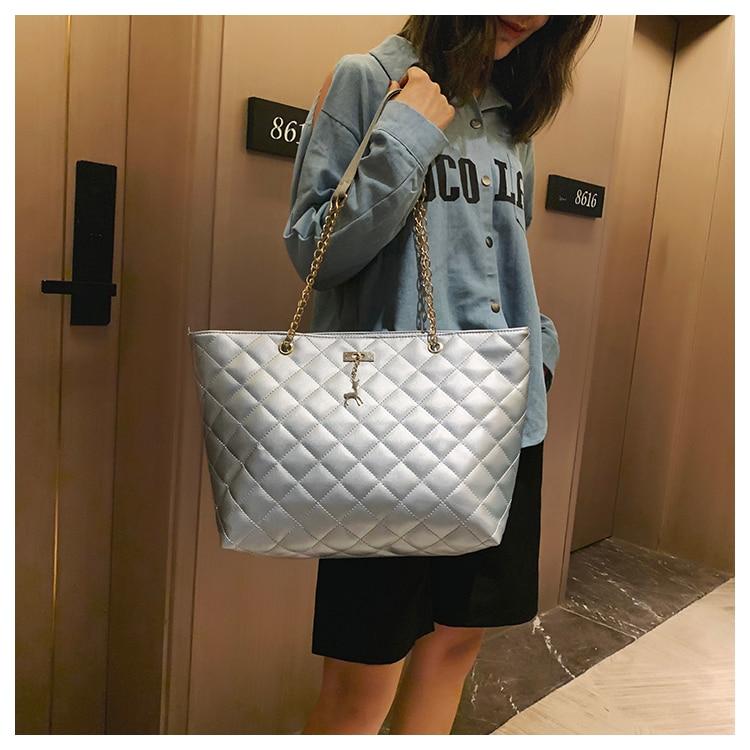 Women Handbag PU Leather 2020 Designer Brand Luxury Chain Shoulder Messenge Crossbody bag Large Capacity Office Lady Bag 14