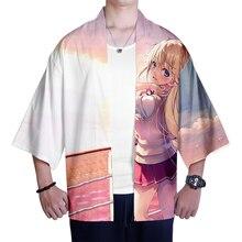 2021 anime Classroom of the Elite Japanese Kimono Men Samurai Costume Clothing Loose Anime Clothes Male Casual Outerwear