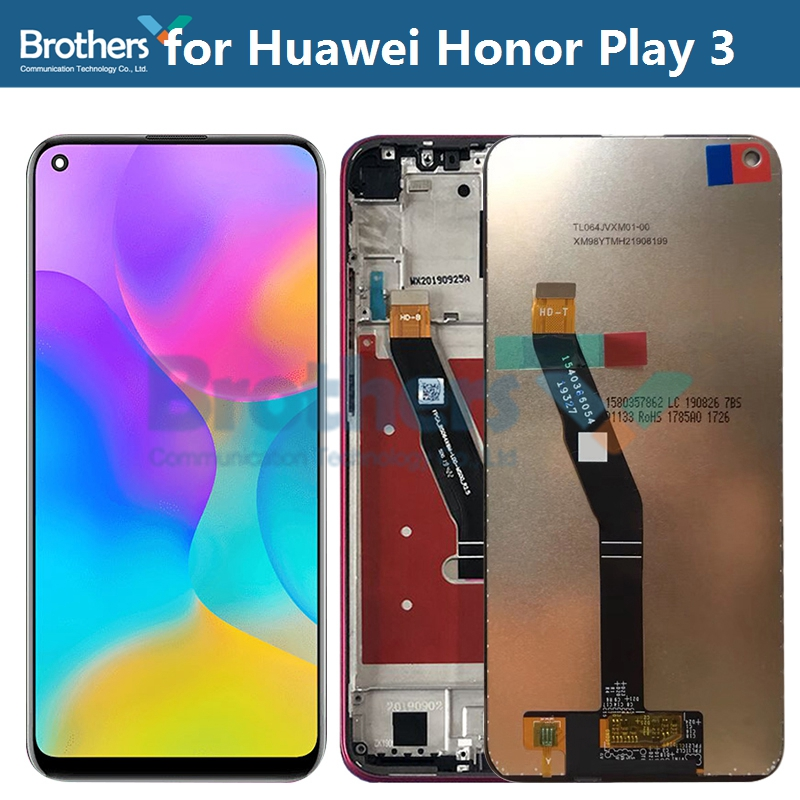 LCD Screen for Huawei Honor Play 3 LCD Display LCD Assembly ASK-AL00x Touch Screen Digitizer Phone Part Replacement Test Working