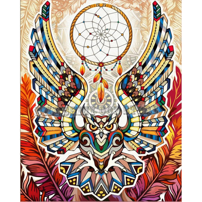 5D DIY Diamond Painting Full Drill Owl Embroidery Mosaic Cross Stitch Kits Craft