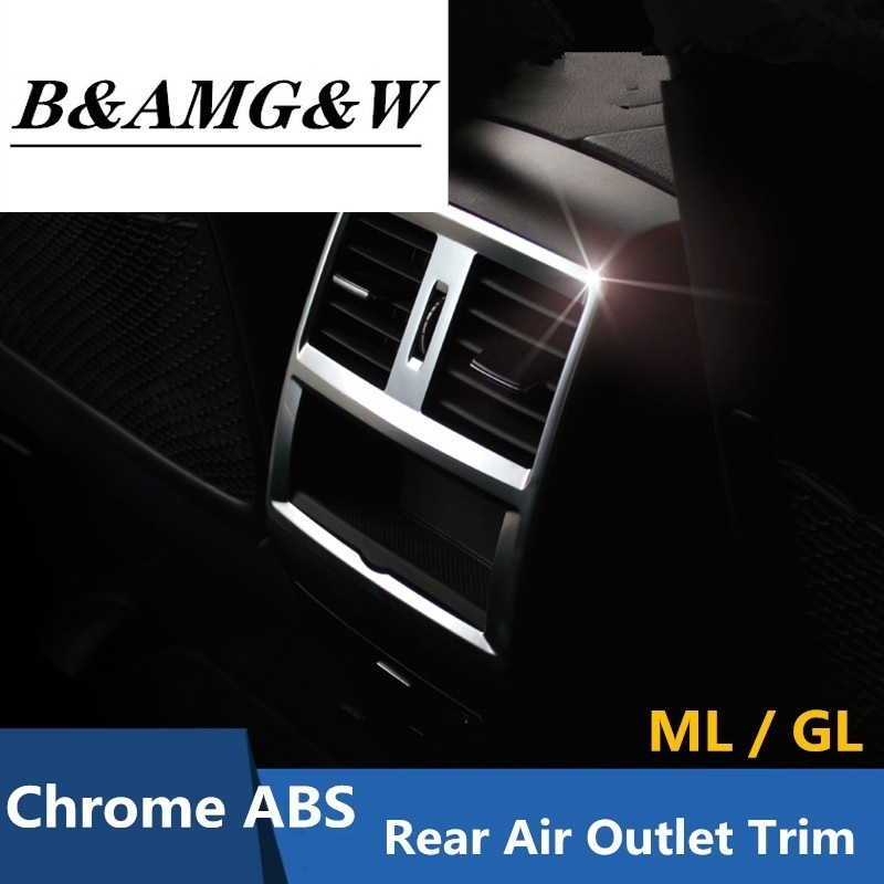 2pcs Chrome Interior AC Air Vent Outlet Cover Trim Decoration For Mercedes Benz GLK X204 ML W124 GL X164 Accessories Car Styling