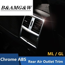 THE DE chiAMG Rear Air Conditioning Outlet frame decoration cover trim for Mercedes Benz ML GL X166 320 350 400 Chrome ABS