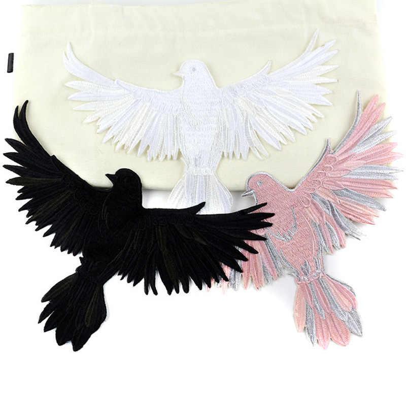 Nieuwe Big Bird Eagle Wing Patches Geborduurde Biker Motorfiets Naaien Op Patch Diy Voor Kleding Badge Stof Voor Kleding Stickers