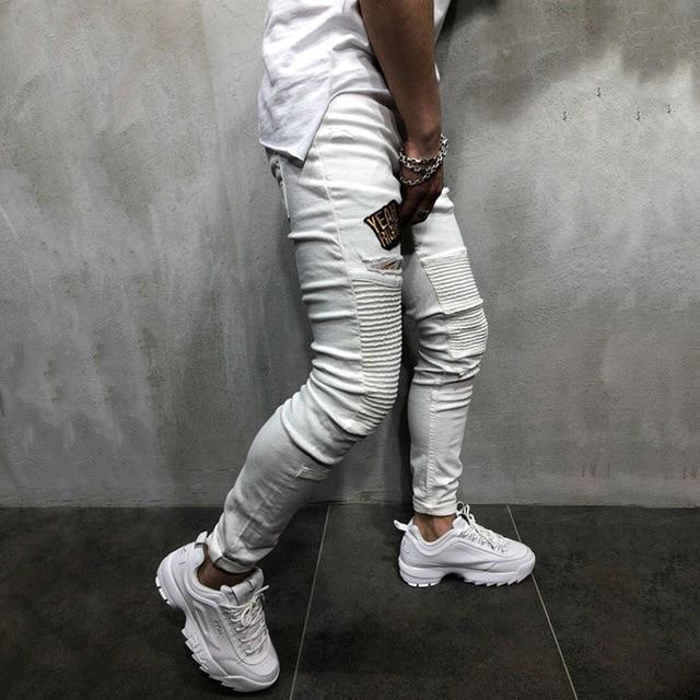 Skinny Pleated Jeans 2