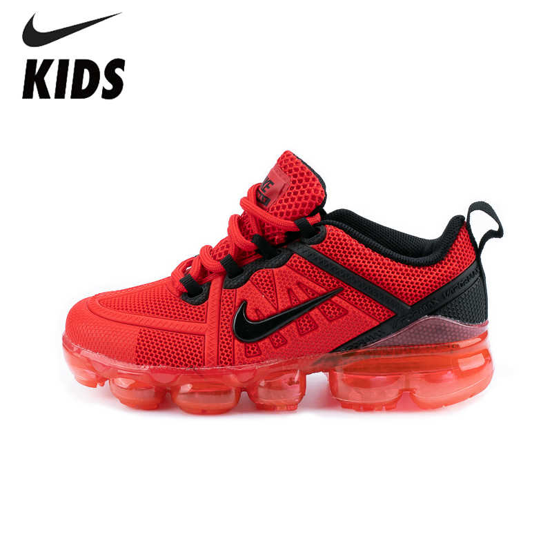 Nike hava VaporMax flyknit çocuk ayakkabı orijinal yeni varış çocuk rahat koşu ayakkabıları açık spor ayakkabı #849558