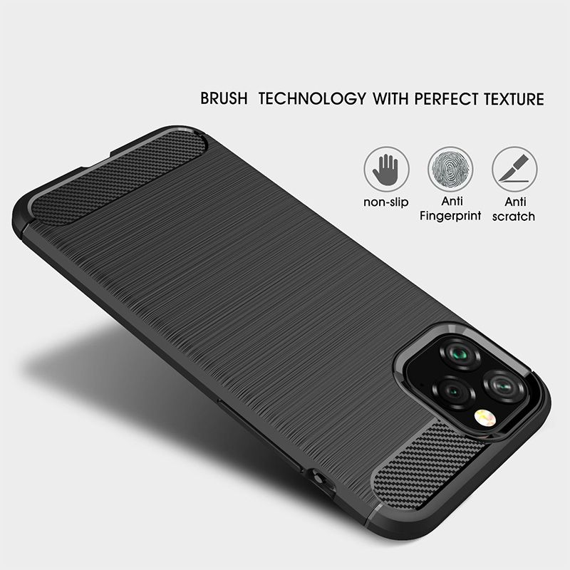 Image 2 - Silicone Soft Case for iPhone X XR XS 11 Pro max Case Carbon Fibre For iPhone 6 6s 7 8 plus Brushed Cover