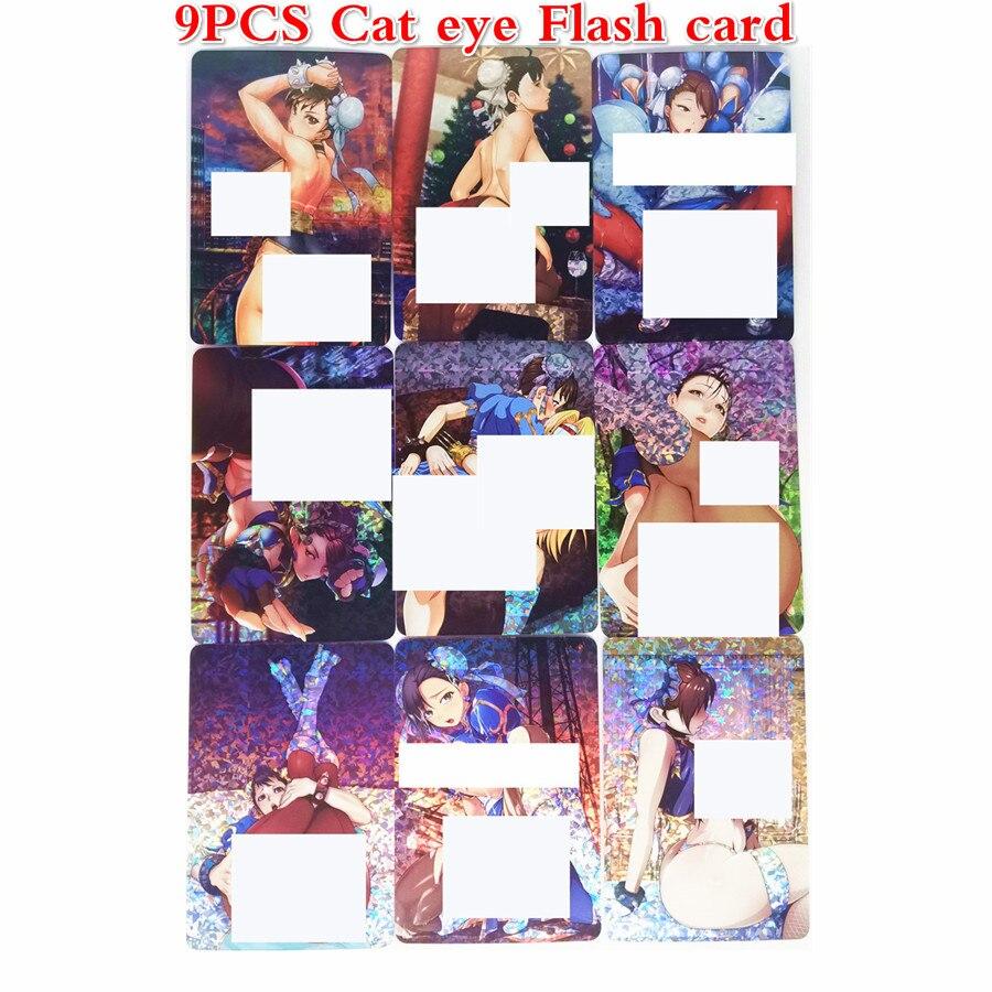 9pcs/set Chun-Li Toys Hobbies Hobby Collectibles Game Collection Anime Cards