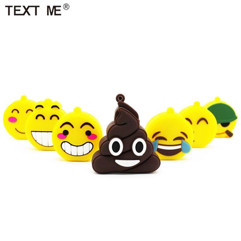TEXT ME  Lovely Smile  Emotion Expression USB Flash Drive Pen Drive 4GB 8GB 16GB 32GB Usb2.0 Memory Stic