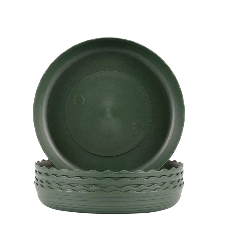 5 Pack Plant Saucers Drip Trays Green Plastic Tray Saucers for Indoor & Outdoor Flower Pot Round|Nursery Trays & Lids| |  - title=
