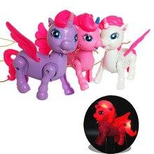 Electronic Pet Funny Robot Unicorn Children Toys LED Light L