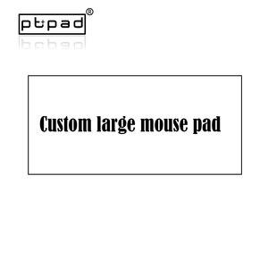 Pbpad Подгонянный коврик для мыши с большой клавиатурой персонализированные края замка натуральный каучук ваш дизайн коврик для мыши Коврик ...