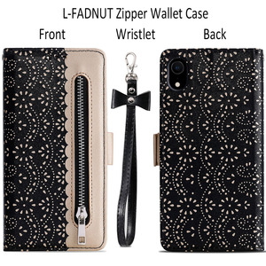 Image 2 - LLZ.COQUE Magnetic Leather Wallet Phone Case for IPhone X XS MAX XR 11 Pro Max 6 6S 7 8 Plus 5S 5 SE 2020 Zipper Flower Cover