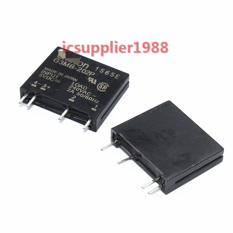 FreeShipping For 10pcs/lot Solid State G3MB-202P-5VDC G3MB-202P-5V G3MB-202P DC-AC PCB SSR In 5VDC,Out 240V AC 2A