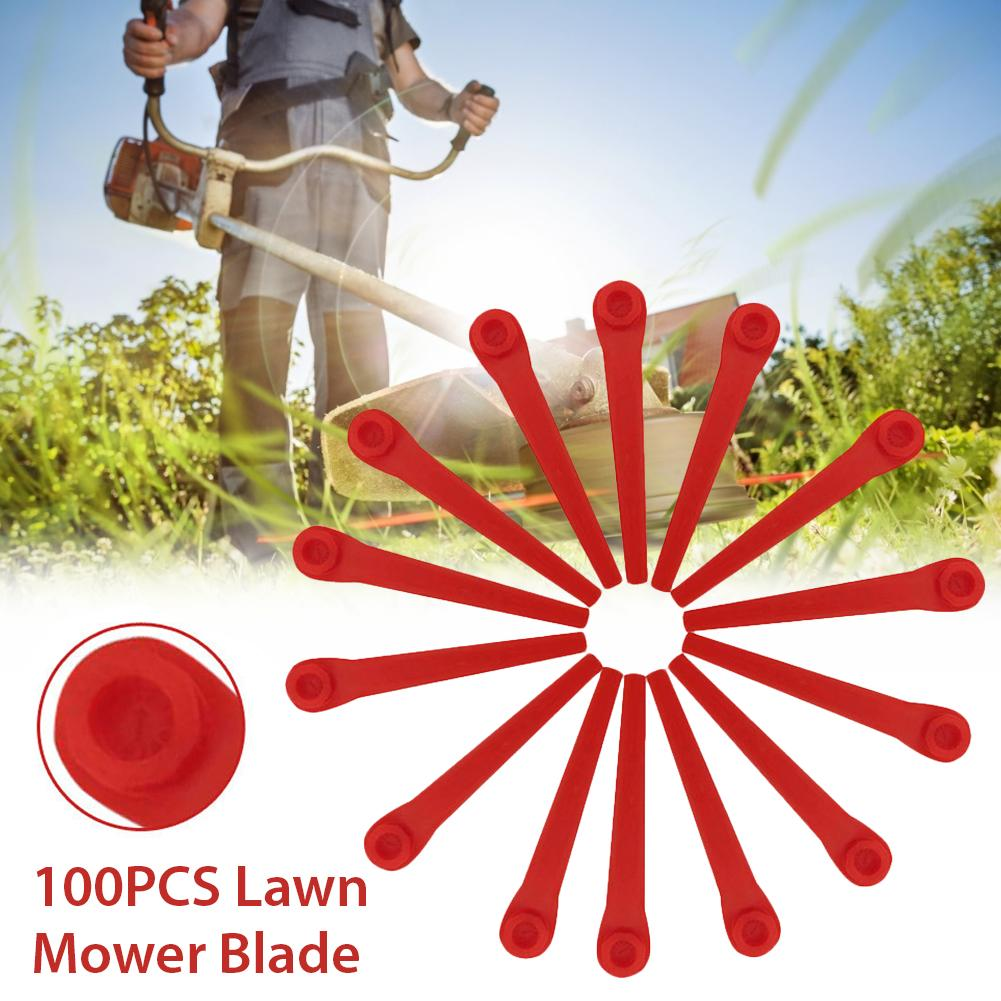 In-stock 100PCS Grass Trimmer Blade Replacement Blades For Home Garden Power Lawn Mower