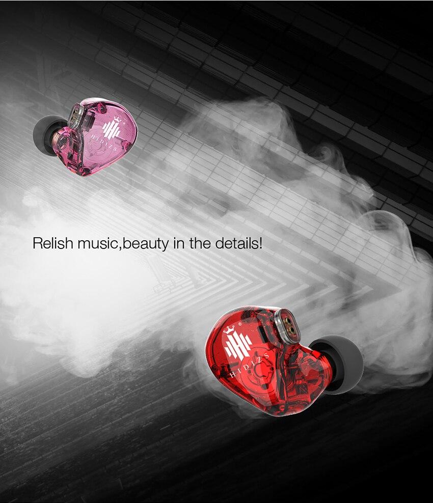 Fones de ouvido hidizs ms1 arco-íris in-ear
