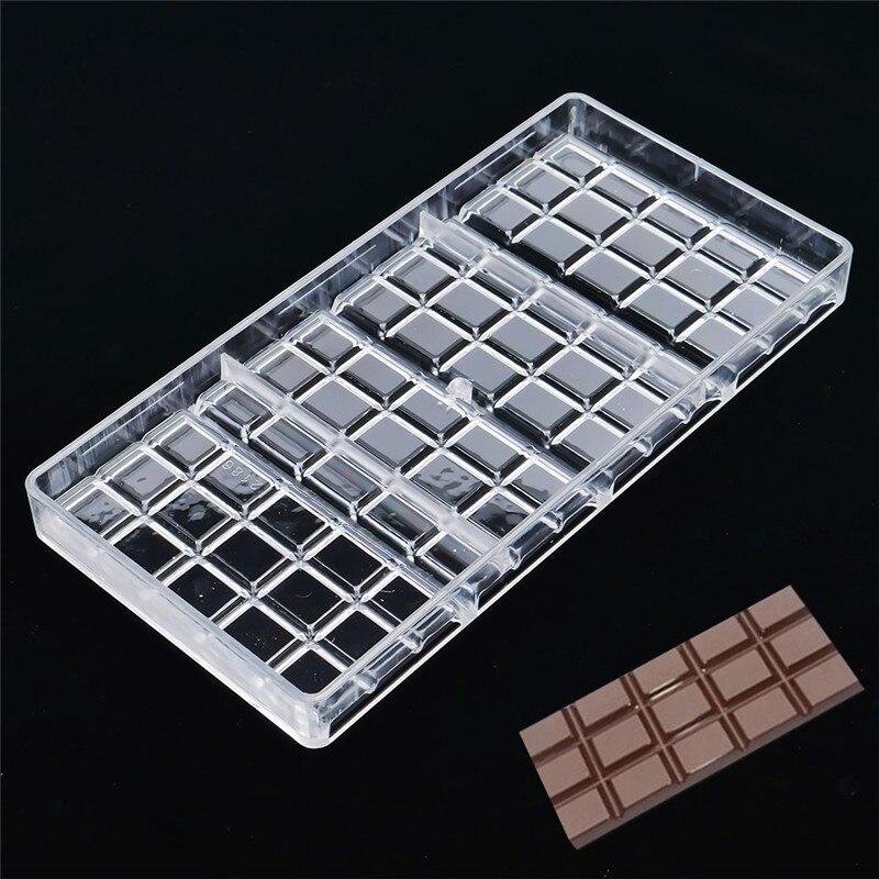Molde da barra de chocolate do policarbonato real eco-amigável plástico cozimento pastelaria molde cozinha ferramentas pastelaria