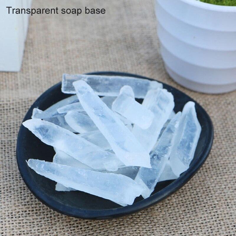 1 пакет, сделай сам, мыло для ручной работы, основа для изготовления мыла, расплавляющее мыло, сырье, подходит для чистки черных точек, прозрачная Мыльная основа, мыльные основы для растений - Цвет: transparent