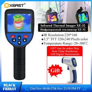 Image 1 - Szybka dostawa XEAST 3.5 Cal duży ekran podczerwieni ręczna kamera termowizyjna HD obraz XE 31 160*120 / XE 32 220*160